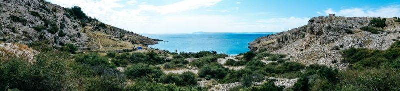 A view at the beach behind Zala