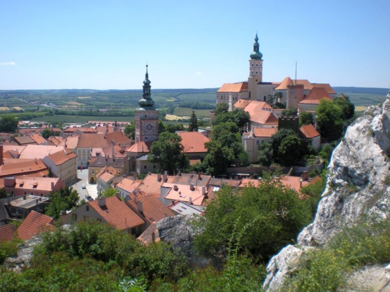Mikulov, the view at the castle