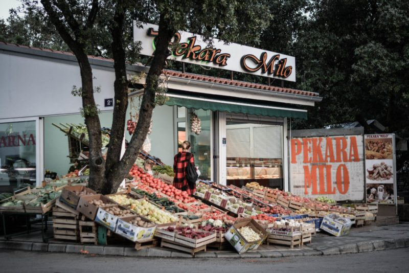 Punat grocery stand
