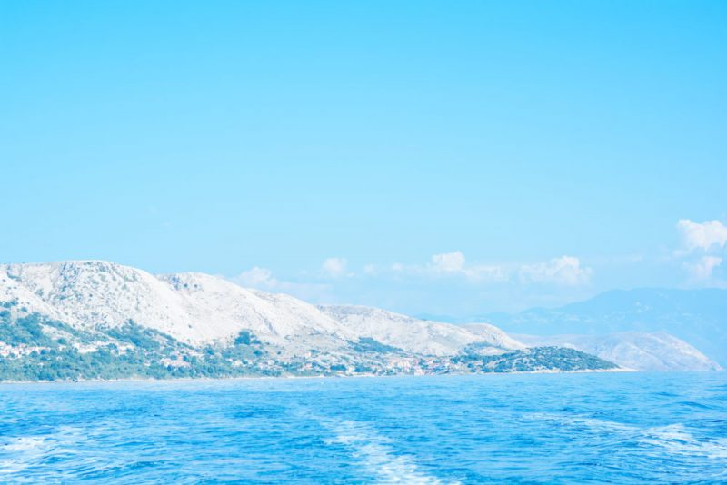 The view at Stara Baška from the sea.