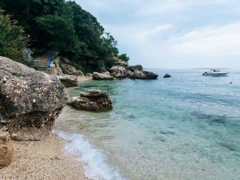 The town beach in Stara Baška