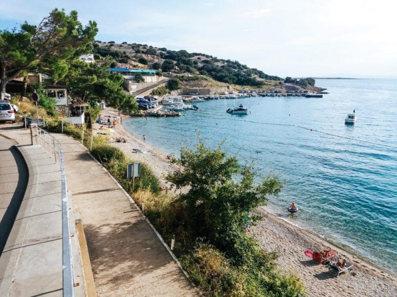 A view at the town beach in Stara Baška