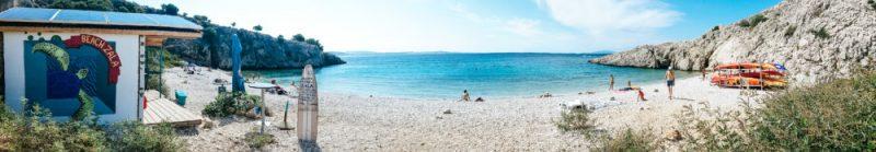 Zala beach in Stara Baška on the Krk Island - in our mind, the best beach in Stara Baška!