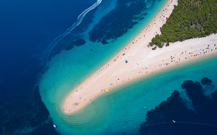 Zlatni Rat beach - if you have been looking for beautiful places to spend your holidays in, you have probably seen a photo of this beach.