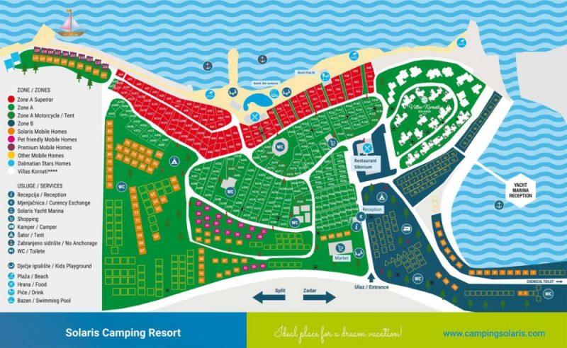 Map of Solaris Camping Beach Resort