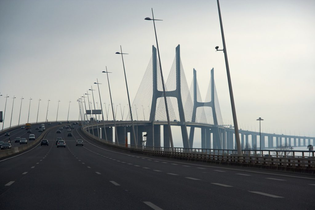 Ponte Vasco da Gama bridge in Lisbon