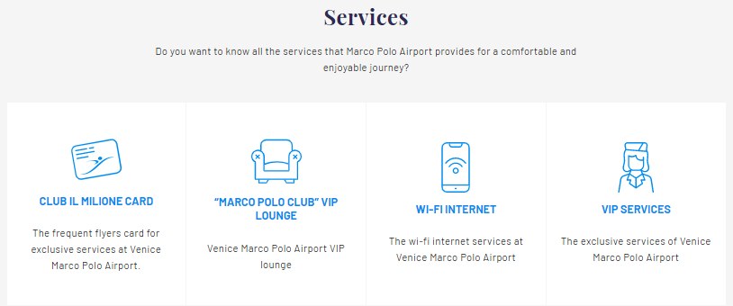 Marco Polo airport in Venice