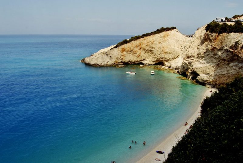 Porto Katsiki beach on the island of Lefkada