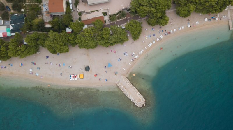 Baška Voda sandy and family beaches. Where to find the best one? Ranking of beaches in Baška Voda