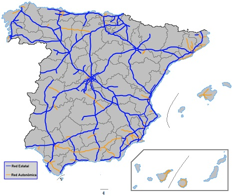 Highways in Spain and vignettes / Source: Wikipedia