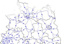 Highways in Germany Map / Check the road and highway tolls in Germany / Source: Wikipedia