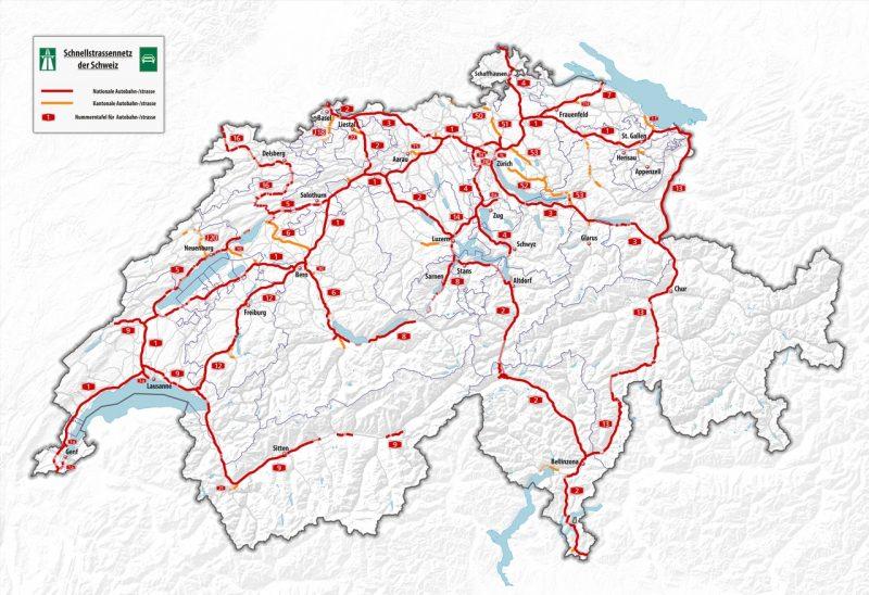 Highways in Switzerland and vignettes / Highways and tolls.