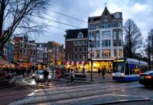 Current prices in Amsterdam / Eating in shops, dinner in a restaurant, fast food, pizza